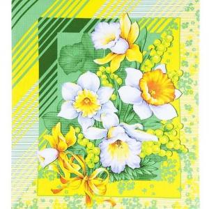 Ткань на отрез вафельное полотно 50 см 170 гр/м2 20021/1 Утренние цветы