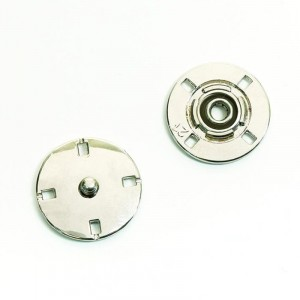 Кнопка металлическая никель  КМД-3 №21 уп 10 шт