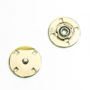 Кнопка металлическая светлое золото  КМД-3 №21 уп 10 шт