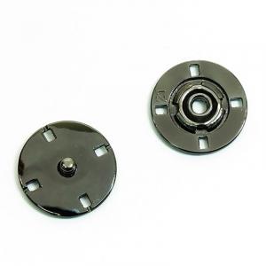 Кнопка металлическая черный никель  КМД-3 №25 уп 10 шт