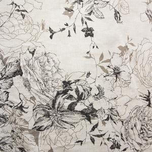 Ткань на отрез полулен 150 см 4912/1 цвет черный