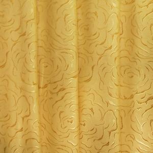 Портьерная ткань 150 см на отрез Роза цвет золото