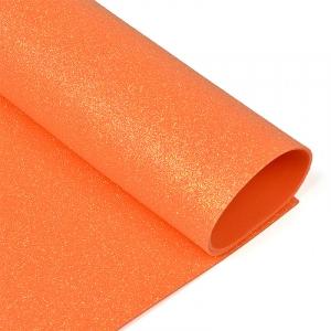Фоамиран глиттерный Magic 4 Hobby 2 мм арт.MG.GLIT.H046 цв.оранжевый, 20х30 см