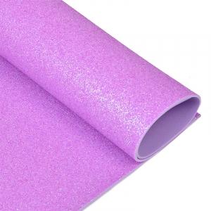 Фоамиран глиттерный 2 мм 20/30 см уп 10 шт MG.GLIT.H044 цвет лавандовый