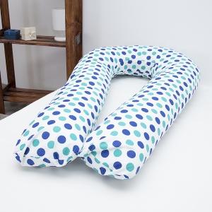 Подушка для беременных U-образная 1718/1 цвет мята-василек