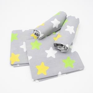 Набор детских пеленок поплин 4 шт 73/120 см 1798/4 цвет серый