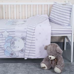 Постельное белье в детскую кроватку 2087+2088 поплин