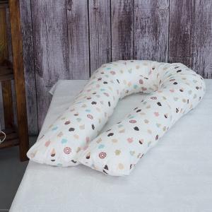 Наволочка бязь на подушку для беременных U-образная 448 Эскимо
