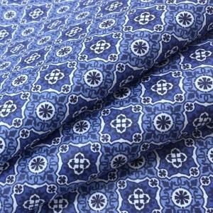 Ткань на отрез сатин набивной 80 см 5622/4 Анже цвет синий