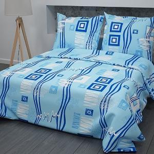 Ткань на отрез бязь ГОСТ 150 см 348/1 Пикассо цвет голубой