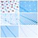 Ткань на отрез бязь плательная 150 см 1718/7 цвет кофе-голубой