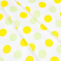 Ткань на отрез бязь плательная 150 см 1718/9 цвет желтый-салат