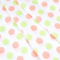Ткань на отрез бязь плательная 150 см 1718/10 цвет персик-салат