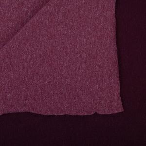 Ткань на отрез футер петля с лайкрой 31-12 меланж цвет бордовый