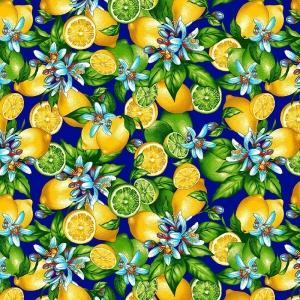 Ткань на отрез фланель грунт 150 см 622-3п Лимоны