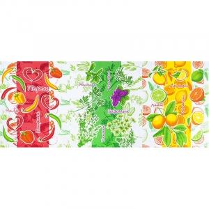 Ткань на отрез вафельное полотно набивное 150 см 10643 Витамины