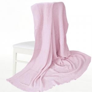 Покрывало-плед Петелька 180/200 цвет розовый