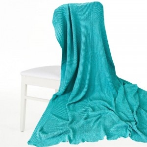 Покрывало-плед Петелька 200/220 цвет зеленый