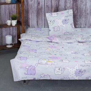 Детское постельное белье из бязи 1.5 сп 11556/1 Мяу - Мяу
