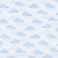 Ткань на отрез бязь плательная 150 см 1745-А/3 цвет голубой