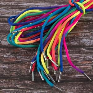 Шнурки круглые 125см радужные уп 2 шт