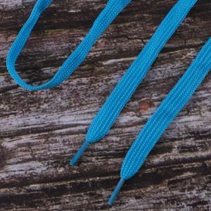 Шнурки плоские, голубой 115см уп 2 шт