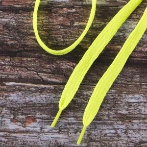Шнурки плоские, лимонный 115см уп 2 шт