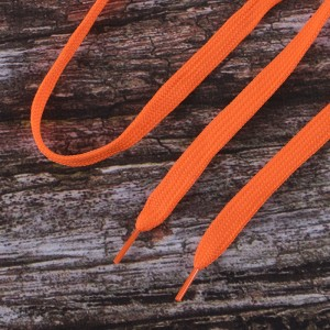 Шнурки плоские, оранжевый 115см уп 2 шт