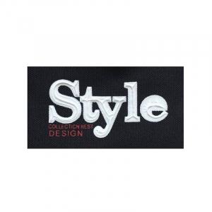 Нашивка Style черная 7.5*4см