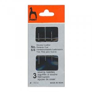 Иглы для кожи PONY 18304 размер 6-8 уп 3 шт