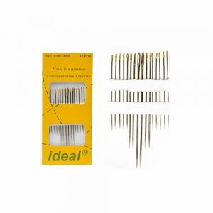 Иглы IDEAL ID-007/ 300M для шитья с позолоченным ушком уп. 16 игл