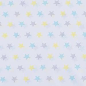 Ткань на отрез перкаль б/з 150 см 13167/2 Звезда цвет желтый