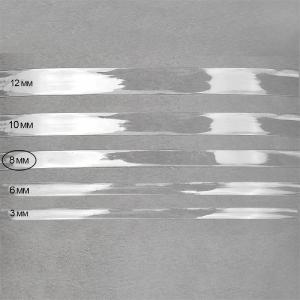 Лента силиконовая блестящая ширина 8 мм толщина 0.3 мм
