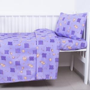 Пододеяльник бязь ГОСТ детский 366/5 Жирафики цвет фиолетовый 145/110 см