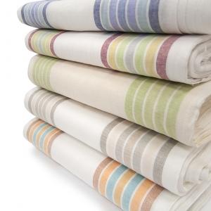 Ткань на отрез полулен полотенечный 50 см Полоска разные рассцветки