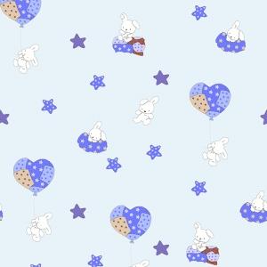 Маломеры поплин 150 см 1722/2 цвет голубой 11 м