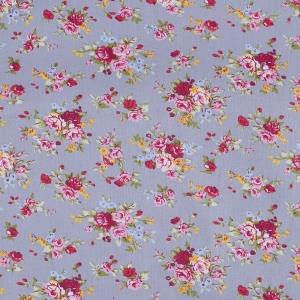 Ткань на отрез поплин 150 см 2157 Цветочное забвение