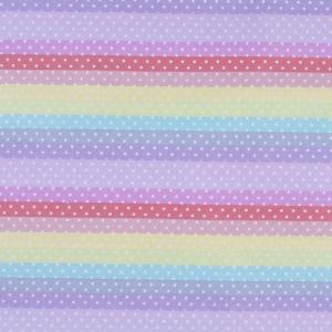 Ткань на отрез поплин 150 см 2158/1 Горох на радуге