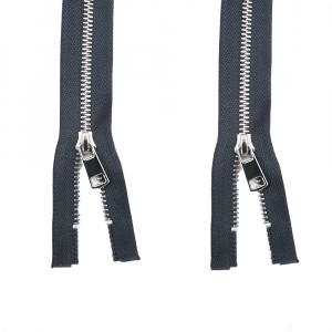 Молния металл №5ТТ никель два замка 95см  D301 графит