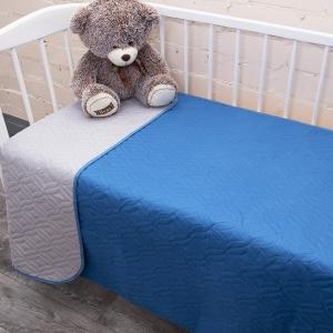 Покрывало детское ульрастеп двухстороннее 18-4141 синий 105/150