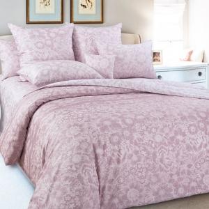 Сатин набивной 202132 220 см Песочные узоры цвет розовый