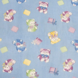 Ткань на отрез ситец О/М 80 см 8839 цвет синий