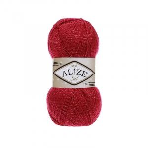 Пряжа ALIZE SAL SIM 649-рубин (5% металлик 95% акрил)