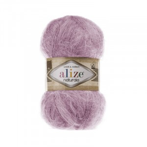 Пряжа ALIZE NATURALE 392-розовый (60% шерсть 40% хлопок)