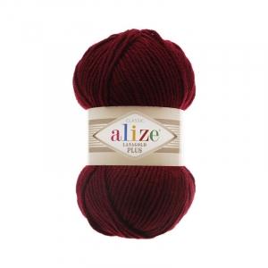 Пряжа ALIZE LANAGOLD PLUS 57-бордовый (49% шерсть 51% акрил)