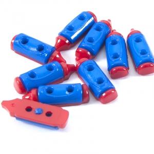 Пуговица детская сборная Карандаш 20 мм красный/синий упаковка 24 шт