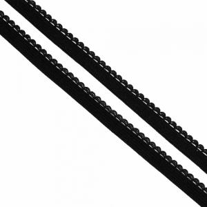 Резинка TBY бельевая 8 мм RB02322 цвет F322 черный 1 метр