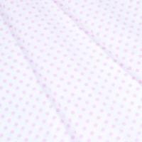 Ткань на отрез бязь плательная 150 см 1359/20А белый фон розовый горох