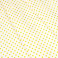 Ткань на отрез бязь плательная 150 см 1359/21А белый фон желтый горох