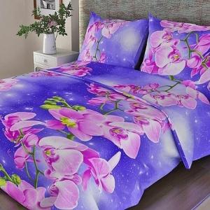 Бязь о/м 100 гр/м2 150 см 306/1 Орхидея фиолетовый